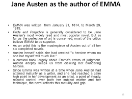 introduction to jane austen and her novel emma ppt jane austen as the author of emma