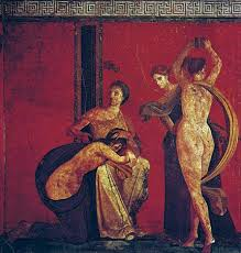 rite of passage com dionysiac initiation rites and prenuptial ordeals of a bride wall painting c 50
