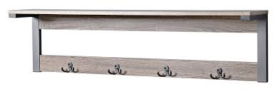 Mounted Coat Rack With Shelf Junien 100 Shelf 100 Hook Entryway Wall Mounted Coat Rack Reviews 53