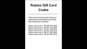 roblox gift card codes generator cards