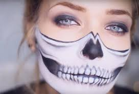 makeupandartfreak half skull makeup tutorial