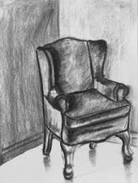 chair drawing. Brilliant Drawing Wingbackchairdrawing Intended Chair Drawing