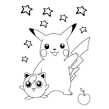 Pikachu Jigglypuff Pokemon Coloring Pagescoloring