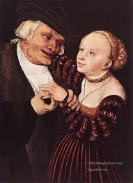 5 old man and young woman renaissance lucas cranach the elder