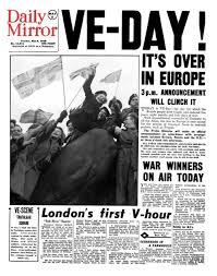 Students will not be familiar with to. Ve Day As Reported By British Newspapers Relief Joy And A Saucy Comic Strip