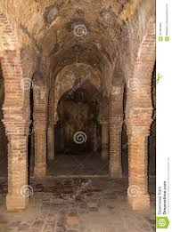 Columns In Hammam Banos Arabes Of Ronda In Spain