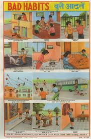 Safety Habits Chart I Love Indian Public Health And Safety Posters School