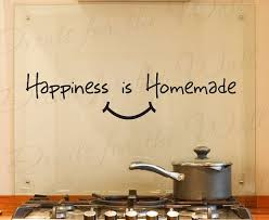 happiness homemade kitchen dining room home family adhesive vinyl sticker art letters wall decal quote lettering decor decoration ki21 on vinyl wall art quotes for kitchen with happiness homemade kitchen dining room home family adhesive vinyl