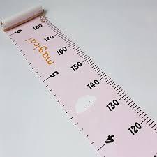 Miaro Kids Growth Chart Wood Frame Fabric Canvas Height
