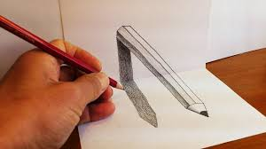3d pencil drawings on paper and how to draw d pencil art optical illusion on