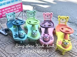 Xe lắc trẻ em QT8091 hình gấu tại Nha Trang