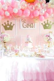 Pink And Gold Birthday Party Supplies Princess Dessert Table Plates