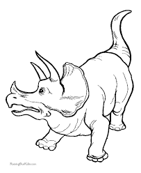 Small Picture Dinosaur coloring pages Triceratops coloring page