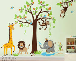 safari baby room wall art