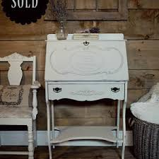 painted office furniture. SOLD| White Shabby Chic Painted Secretary Desk, Off-white, Antique Desk Office Furniture L