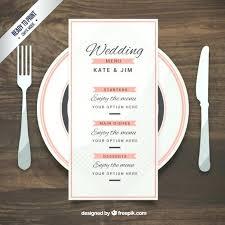 Free Wedding Menu Templates Download A Template Ideas Uk