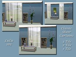 clic sheer curtain set