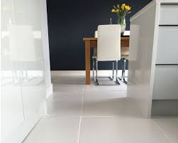 Kitchen Diner Flooring Emmas Stylish Kitchen Diner White Matt Floor Tiles Walls And