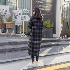 SED Women's Clothes - Tartan <b>Coat</b>, Female <b>Winter</b> Long <b>Thick</b> ...