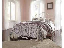 Metal Bed Bedroom Signature Design By Ashley Loriday Queen Metal Bed With Decorative