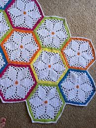 Hexagon Crochet Pattern Simple Ravelry Granny's Garden Hexagon Pattern By Cherie Durbin
