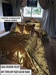 gold crushed velvet bedspread runner