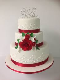 Red Wedding Cakes Ideas 3 Tier And White Cake Annette S Heavenly