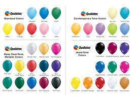 Balloon Color Chart Balloon Tree 19