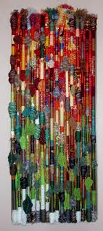 fiber art wall hanging  fall in the northland made by polly