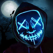 Light Up Mask Details About Halloween Mask Led Light Up Mask Scary Glowing Mask For Festival Cosplay