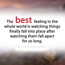es of love the best feeling in the whole world is watching things finally fall