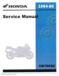 1984 1986 honda cb700sc nighthawk motorcycle service manual 1984 1986 honda cb700sc nighthawk service manual
