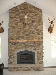 diy stacked stone veneer fireplace ideas