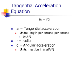 tangential acceleration equation