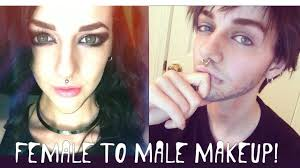 you want to makeup to make a woman look like a man