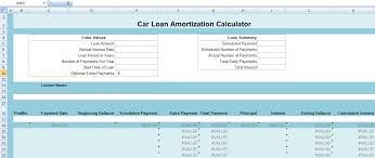 Car Loan Amortization Calculator Excel Exceltemple Excel