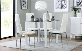 glass dining table and chairs nova square white glass dining table with 4 white chairs chrome