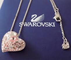 swarovski pink crystal alana heart 1062588 pendant necklace rare retired for