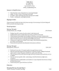 Massage Therapist Resume Examples New Massage Therapist Resume Objective S Objective For Massage Therapy
