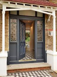 image result for grey front door with