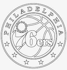American eagle wings logo, outline style stock vector. Philadelphia 76ers Logo Stencil Philadelphia 76ers Logo Drawing 2400x2400 Png Download Pngkit