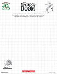 The Notebook Of Doom Drawing Sheet Branches Books Scholastic