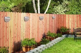 outdoor garden solar power powered light gutter fence yard led lamp wall light ha10458 growth network