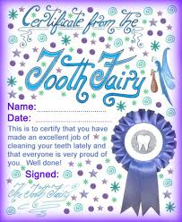 modern tooth fairy certificates rooftop post printables certificate from the tooth fairy to say well done for brushing your teeth