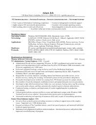 Wellsuited Windows Administration Sample Resume Inspiring Resumes