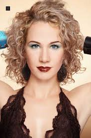 permed curly short hairstyles