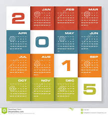 Simple Calendar Template 2015 Simple Editable Vector Calendar 2015 Stock Vector