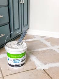how to install sheet vinyl flooring over old tile fill grout lines with thin