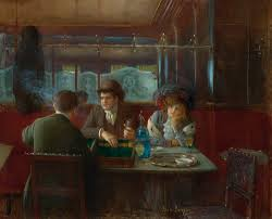 jean béraud backgammon at the café private collection oil on canvas x 66