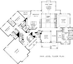 first floor plan of craftsman traditional house plan 58252 house 4 Bedroom House Plans For Narrow Lots first floor plan of craftsman traditional house plan 58252 house plans pinterest Small Narrow Lot House Plans